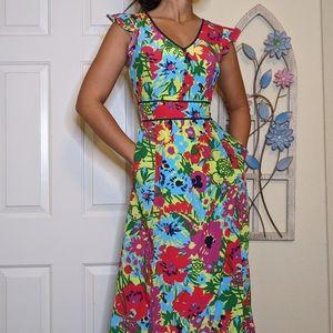 Modcloth Maxi Floral Dress